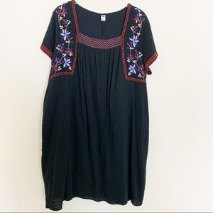 Old Navy Embroidered Smock Dress